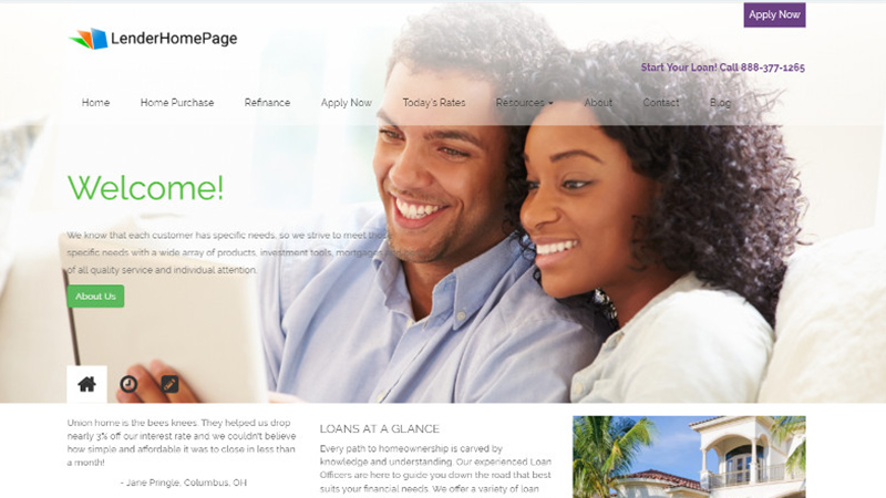 Mortgage Website